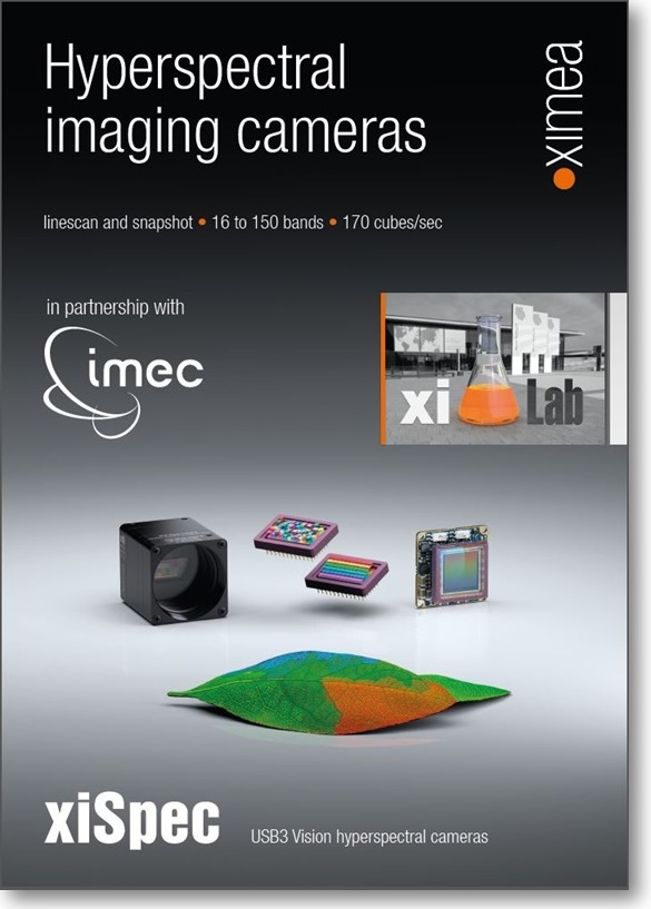 Hyperspectral sensors IMEC camera USB3 smallest